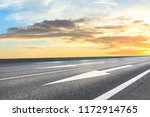 clean asphalt highway and... | Shutterstock . vector #1172914765