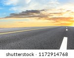 clean asphalt highway and... | Shutterstock . vector #1172914768