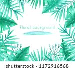watercolor background with... | Shutterstock . vector #1172916568