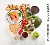 healthy food for heart....   Shutterstock . vector #1172916865
