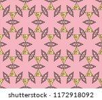 seamless golden ornament in...   Shutterstock . vector #1172918092