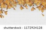 decorative border with oak... | Shutterstock .eps vector #1172924128