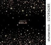 golden festive confetti. bronze ... | Shutterstock .eps vector #1172926285