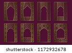 set of golden vintage frames in ...   Shutterstock .eps vector #1172932678