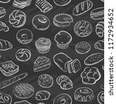 seamless pattern with pastries. ... | Shutterstock .eps vector #1172934652