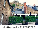france. normandy. abbey of mont ... | Shutterstock . vector #1172938222