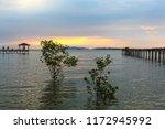 Small photo of seascape at the pasir panjang ,port dickson, malaysia during dawn