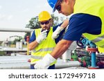 engineer working in a oil... | Shutterstock . vector #1172949718