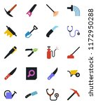 color and black flat icon set   ...   Shutterstock .eps vector #1172950288