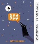 happy halloween vector... | Shutterstock .eps vector #1172956618