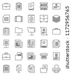 thin line vector icon set  ... | Shutterstock .eps vector #1172956765