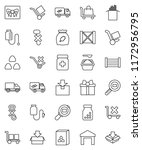 thin line vector icon set  ... | Shutterstock .eps vector #1172956795
