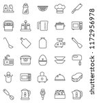 thin line vector icon set  ... | Shutterstock .eps vector #1172956978
