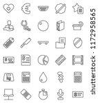 thin line vector icon set  ... | Shutterstock .eps vector #1172958565