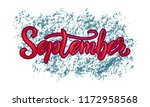hand drawn typography lettering ... | Shutterstock .eps vector #1172958568