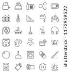 thin line vector icon set  ... | Shutterstock .eps vector #1172959522