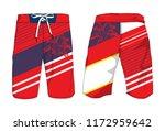 board shorts template   Shutterstock .eps vector #1172959642