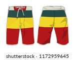 board shorts template | Shutterstock .eps vector #1172959645