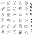 thin line vector icon set  ... | Shutterstock .eps vector #1172959768