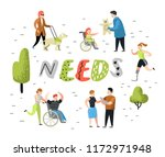 flat people characters set with ... | Shutterstock .eps vector #1172971948