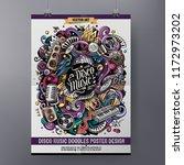 cartoon hand drawn doodles... | Shutterstock .eps vector #1172973202