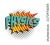 word physics in colorful retro... | Shutterstock .eps vector #1172976055
