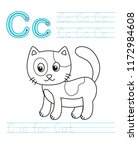 Vector Coloring Book Alphabet....