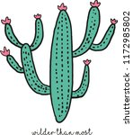 cactus illustration print | Shutterstock .eps vector #1172985802