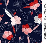 blossom floral seamless pattern.... | Shutterstock .eps vector #1172989492