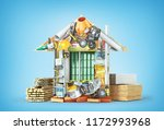 construction concept. building... | Shutterstock . vector #1172993968