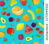 cartoon fruits pattern.... | Shutterstock .eps vector #1172999332