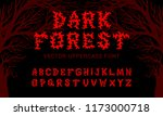 "vector typeface ""dark forest""... 