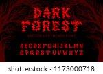 "vector typeface ""dark forest""... | Shutterstock .eps vector #1173000718"