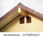 roofing construction house... | Shutterstock . vector #1173001015