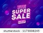 super sale promotion design.... | Shutterstock .eps vector #1173008245