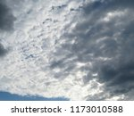 dark dramatic sky with a stormy ... | Shutterstock . vector #1173010588