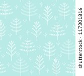 seamless winter pattern with... | Shutterstock .eps vector #117301816