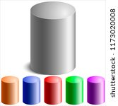 realistic colored cylinders on... | Shutterstock . vector #1173020008