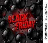 black friday sale design ... | Shutterstock .eps vector #1173024562