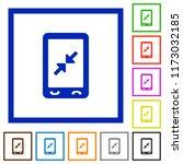 mobile pinch close gesture flat ...   Shutterstock .eps vector #1173032185