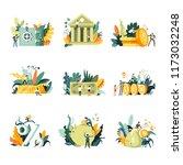 bank institution saving money... | Shutterstock .eps vector #1173032248