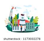 gas emissions reduction people... | Shutterstock .eps vector #1173032278