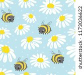 seamless summer pattern with... | Shutterstock .eps vector #1173036622