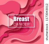 breast cancer awareness vector... | Shutterstock .eps vector #1173043012