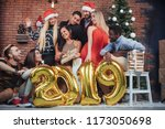group of cheerful old friends... | Shutterstock . vector #1173050698