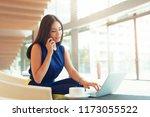 successful businessman working... | Shutterstock . vector #1173055522