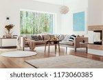 beige rugs on the floor of a...   Shutterstock . vector #1173060385
