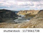 dettifoss waterfall landscape... | Shutterstock . vector #1173061738