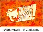 end of autumn sale  massive... | Shutterstock .eps vector #1173061882