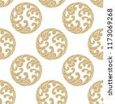 wave pattern vector. gold... | Shutterstock .eps vector #1173069268